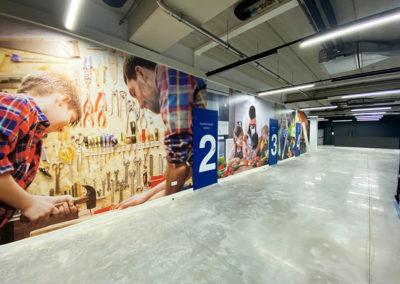 Mural con impresión digital