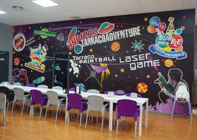 Mural en Bubble park de Reus