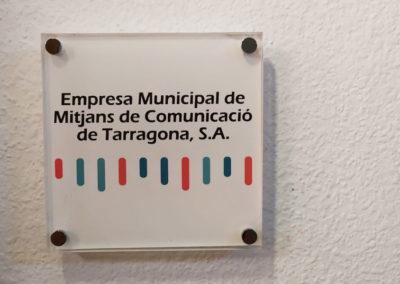 Placa de metacrilato radio Tarragona