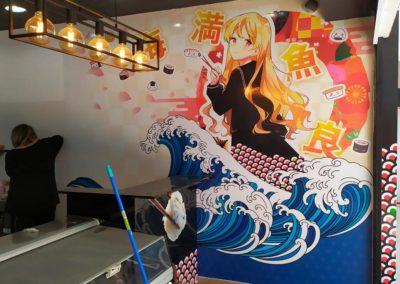 Rotulación para restaurante Japones