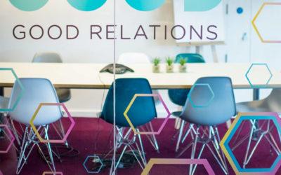 Rotulación original y creativa de oficinas