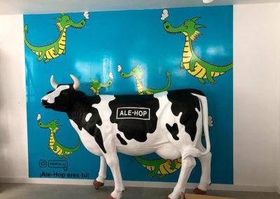Rotulación mural tienda ALE-HOP